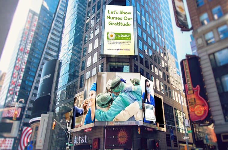 WHH Nurse Included in DAISY Award Display on Times Square