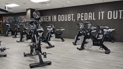 Spin bikes at a BayCare Fitness Center